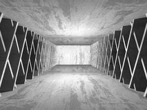 Fond concret d'architecture Chambre noire vide abstraite Photographie stock