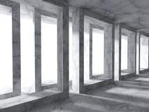 Fond concret d'architecture Construction de conception moderne Images stock