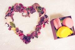 Fond concret de St Valentine avec un coeur Image libre de droits