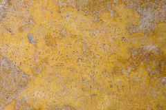 Fond concret grunge jaune Photo libre de droits