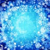 Fond congelé abstrait de l'hiver illustration stock