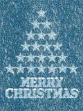 Fond congelé de Joyeux Noël illustration de vecteur