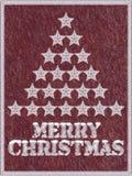 Fond congelé rouge de Joyeux Noël avec la neige illustration stock