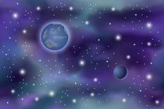 fond cosmique Photos stock
