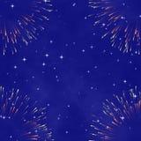 Fond cosmique abstrait avec le feu d'artifice Images libres de droits