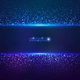 Fond cosmique bleu d'abctract de la poussière d'étoile illustration de vecteur