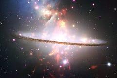 Fond cosmique de galaxie avec des nébuleuses, des chimères et des étoiles lumineuses illustration de vecteur
