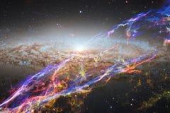 Fond cosmique de galaxie avec des n?buleuses, des chim?res et des ?toiles lumineuses image stock