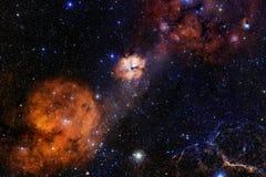 Fond cosmique de galaxie avec des n?buleuses, des chim?res et des ?toiles lumineuses images stock