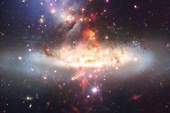 Fond cosmique de galaxie avec des n?buleuses, des chim?res et des ?toiles lumineuses images libres de droits