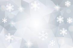 Fond cosmique polygonal abstrait de Noël Image libre de droits