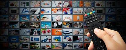 Fond coulant visuel de bannière de Web de multimédia Images libres de droits