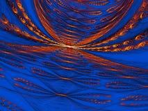 Fond créé en assemblant plusieurs fractales Image libre de droits