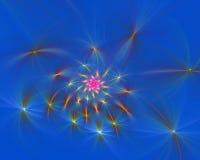 Fond créé en assemblant plusieurs fractales photo stock
