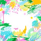 Fond créatif artistique coloré Images libres de droits
