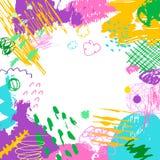 Fond créatif artistique coloré Photographie stock