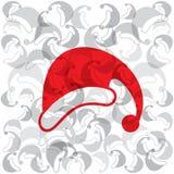 fond créatif de chapeau de Joyeux Noël Images libres de droits