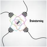 Fond créatif de concept d'idée d'ampoule Photo stock