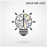 Fond créatif de concept d'idée d'ampoule Image stock