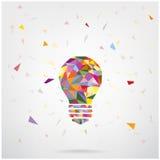 Fond créatif de concept d'idée d'ampoule Photos libres de droits