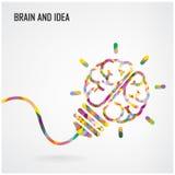 Fond créatif de concept d'idée de signe d'ampoule Image stock