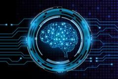 Fond créatif de concept de cerveau Image stock