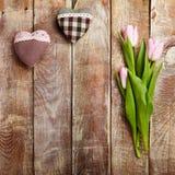 Fond créatif de jour de valentines Photographie stock libre de droits