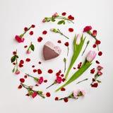 Fond créatif de jour de valentines Photos stock
