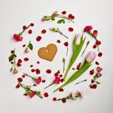 Fond créatif de jour de valentines Image libre de droits