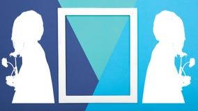 Fond créatif de jour du ` s de père d'art de bruit Turquoise heureuse de jour ou d'anniversaire du ` s de père et fond bleu Photographie stock libre de droits