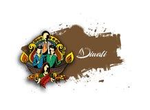 Fond créatif heureux de Diwali pour le festival de Diwali Photo libre de droits