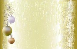 Fond criqué de vintage de Noël avec des boules de Noël illustration stock