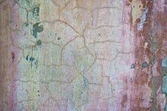 Fond criqué et d'épluchage vieux de mur de peinture Grunge classique image libre de droits