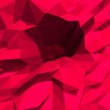 Fond cristallin rouge de bas polygone abstrait Photo stock
