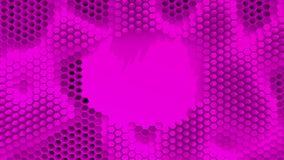 Fond cristallisé par pourpre abstrait Mouvement de nids d'abeilles comme un océan Avec l'endroit pour le texte ou le logo clips vidéos