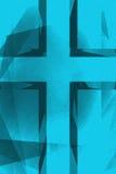 Fond croisé religieux bleu de vintage Images libres de droits