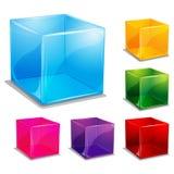 Fond cubique coloré Images stock