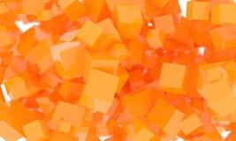 Fond cubique orange géométrique de résumé illustration libre de droits