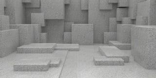 fond cuboïde abstrait géométrique du papier peint 3D Photographie stock libre de droits