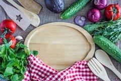 Fond culinaire Copiez la vue sup?rieure de l'espace images stock