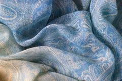 Fond cyan de texture de tissu Images stock