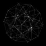 Fond cybernétique abstrait de particules Fond de technologie d'imagination de plexus illustration 3D Généré par ordinateur Image stock