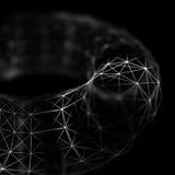 Fond cybernétique abstrait de particules Fond de technologie d'imagination de plexus illustration 3D Généré par ordinateur Photographie stock