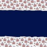 Fond déchiré par feuilles de marijuana Image libre de droits