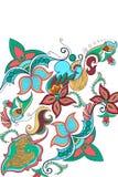Fond décoré de fleur Image stock
