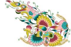 Fond décoré de fleur Photo libre de droits