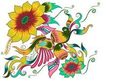 Fond décoré de fleur Photos stock
