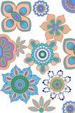 Fond décoré de fleur Images stock