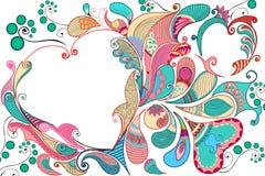 Fond décoré de fleur Image libre de droits