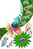 Fond décoré de fleur Photos libres de droits